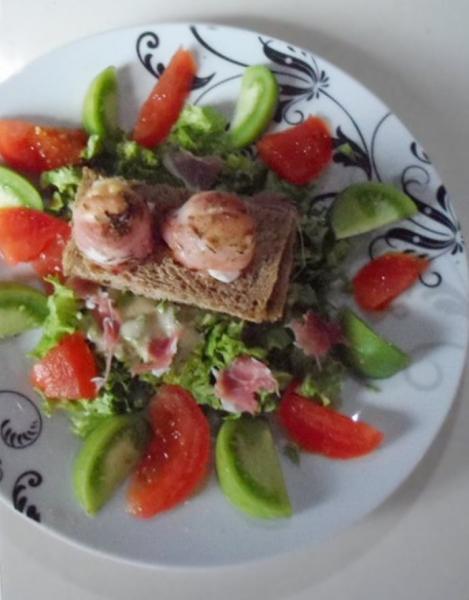 Salades de chevre chaud et lardon20140505