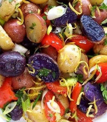Salades de pomme de terre bleu blanc rouge 2011