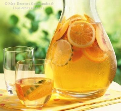 sangria vin blanc a l'oranges