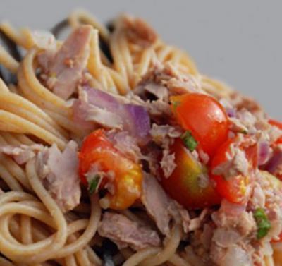 Spaghetti au thon et tomates cerises20160212
