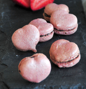Macarons cœur, Ganache au chocolat noir
