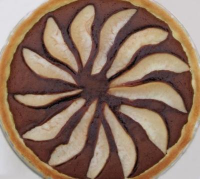 Tarte aux poires chocolatees20041008