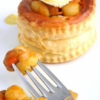 Vol au vent st jacques