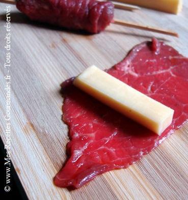 yakiktori de boeuf fromage preparation